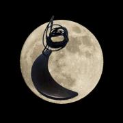 colgante shungit forma luna
