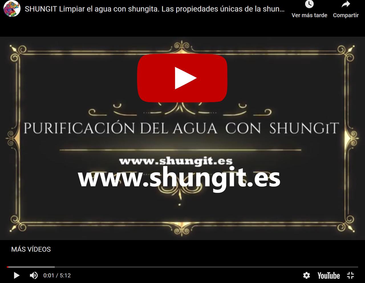 LIMPIEZA AGUA SHUNGIT